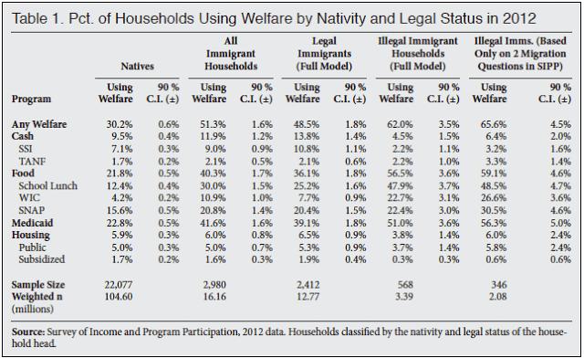 Welfare illegals
