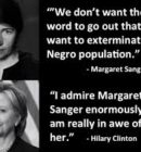 Margaret Sanger and Hillary Clinton